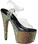 Pleaser USA Women's Bejeweled 708MS Ankle Strap Sandal