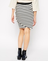 BZR Striped Wrap Around Skirt