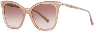 Max Mara Shine III mink cat-eye sunglasses