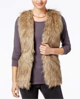 Hippie Rose Juniors' Faux-Fur Sweater Vest