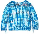 Vintage Havana Girls' Tie Dye Fringe Sweatshirt