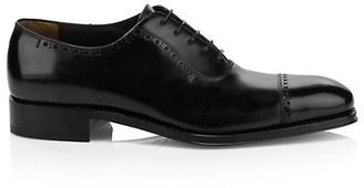 Salvatore Ferragamo Brawell Leather Oxfords