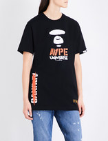 Aape Camouflage-print panel cotton-jersey T-shirt