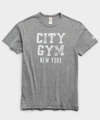 Todd Snyder + Champion Champion City Gym New York Tee in Salt and Pepper