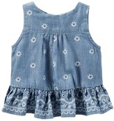 Osh Kosh Baby Girl Floral Open-Back Tank Top