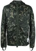 Satisfy camouflage packable windbreaker jacket