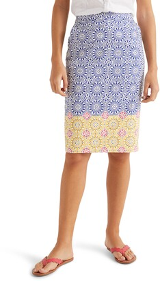 Boden Gabriella Stretch Cotton Pencil Skirt