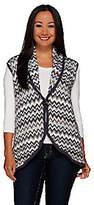 Liz Claiborne New York Drape Front ChevronSweater Vest