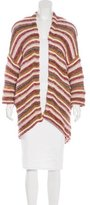 Maje Striped Open Front Cardigan