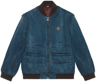 Gucci Denim jacket with detachable sleeves