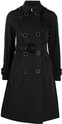 Herno Double-Breasted Cotton Trench Coat