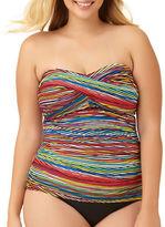 Anne Cole Twist Front Shirred Bandeaukini Swim Top