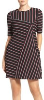 Gabby Skye Stripe Shift Dress
