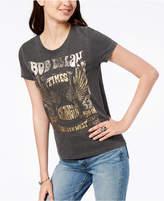 Lucky Brand Cotton Metallic-Print Band T-Shirt