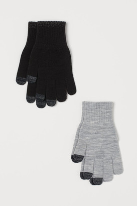 H&M 2-Pack Touchscreen Gloves