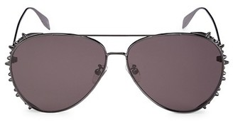 Alexander McQueen Rebellion 63MM Metal Pilot Sunglass