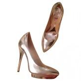 Alexander McQueen Silver Patent leather Heels