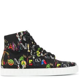 Versus multicoloured-print high-top sneakers
