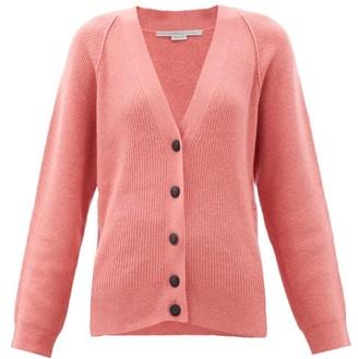 Stella McCartney V-neck Ribbed-knit Wool-blend Cardigan - Light Pink