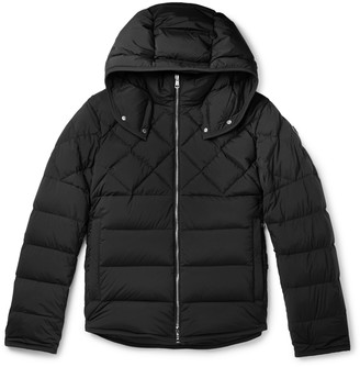Moncler Quilted Shell Hooded Down Jacket - Men - Blue