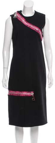 Christopher Kane Zip-Accented Midi Dress