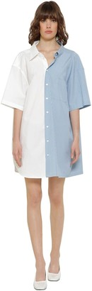 MM6 MAISON MARGIELA Asymmetric Poplin Shirt Dress