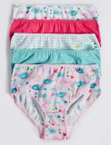 Marks and Spencer Pure Cotton Fish Print Briefs (18 Months - 12 Years)