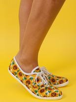 American Apparel Unisex Sunflower PrintTennis Shoe