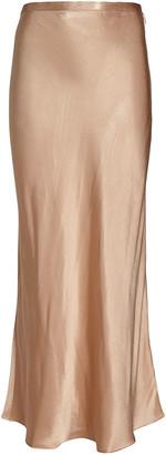 Shona Joy Wright Bias Satin Midi Skirt