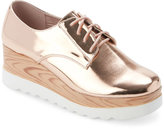Wanted Rose Gold Beekman Platform Oxfords