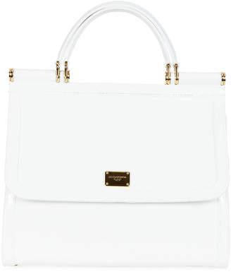 Dolce & Gabbana Sicily Large Plus Gomma Plexi Top-Handle Bag