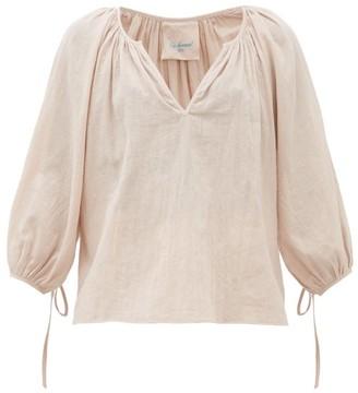 Loup Charmant Capucine Organic-cotton Muslin Blouse - Pink