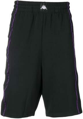 Kappa appliqué striped shorts