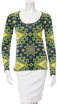 Matthew Williamson Silk Mosaic Print Top w/ Tags