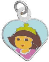 Dora the Explorer 3161045 Children's Princess Pendant Rhodium-Plated Silver 925/1000 0.5 g Email