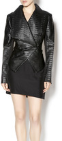 Katherine Barclay Textured Faux Leather Jacket