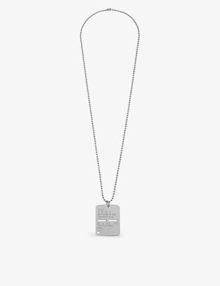 Alyx Brass military tag necklace