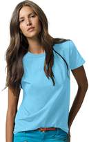 Hanes 78715953652 5680 Womens Relaxed Fit Jersey ComfortSoft Crewneck T Shirt, Blue - Extra Large