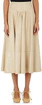 Maison Mayle Women's Lambskin A-Line Skirt