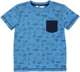 Petit Lem Surf Wave Printed Knit Tee, Blue, Size 2-4T