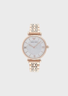 Emporio Armani Women'S Stainless Steel Two-Hand Watch
