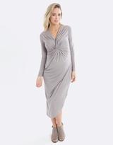 Knot Winter Maternity & Nursing Dress