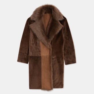 Theory Coat in Textured Shearling