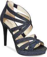 Alfani Women's Cymball Caged Platform Evening Sandals, Created for Macy's