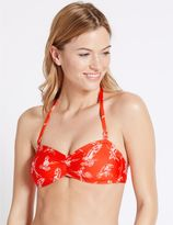 Marks and Spencer Parrot Print Bandeau Bikini Top