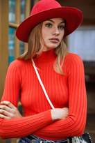 Cooperative Cindy Ribbed Mock-Neck Sweater