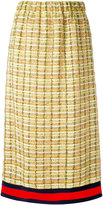 Gucci GG web midi tweed skirt - women - Silk/Cotton/Linen/Flax/Metallized Polyester - 40