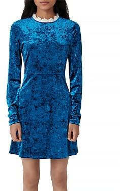 Maje Randy Crushed Velvet Mini Dress