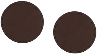 D'heygere Round Leather Earrings