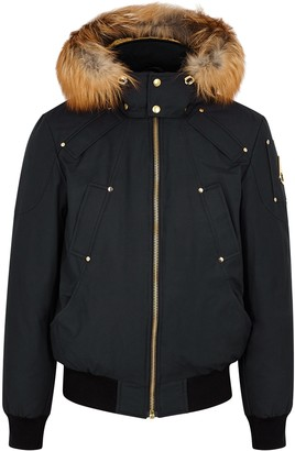 Moose Knuckles Little Rapids Fur-trimmed Bomber Jacket